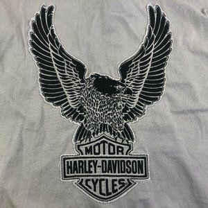 Harley Davidson Eagle Logo Button Front 3XL XXL